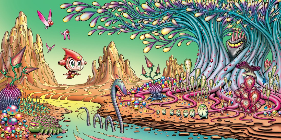 Little Red Rocket enters the mysterious forest filled with alien flora and fauna.