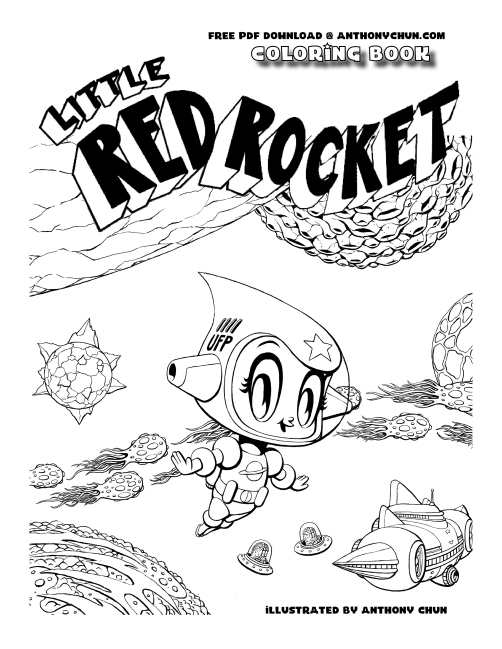 Little Red Rocket Coloring Book
